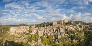 Italian Town Sorano Royalty Free Stock Photography