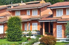 Italian townhouses style Royalty Free Stock Images