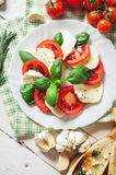 Italian traditional caprese fresh salad Stock Image