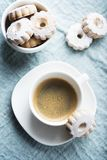 Italian traditional cookies canestrelli royalty free stock photography