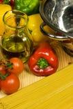 Italian traditional cousine. Healthy ingrediends in Italian traditional cousine Stock Image