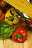 Italian traditional cousine. Healthy ingrediends in Italian traditional cousine Stock Photography