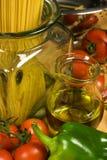 Italian traditional cousine. Healthy ingrediends in Italian traditional cousine Stock Photos