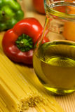 Italian traditional cousine. Healthy ingrediends in Italian traditional cousine Royalty Free Stock Image