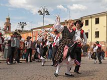 Italian traditional dance Stock Photo