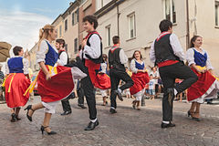 Italian traditional dance Stock Photography