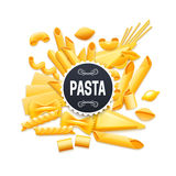 Italian Traditional Dry Pasta Realistic Pictogram Royalty Free Stock Photo