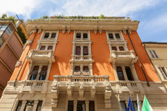 Italian traditional facade royalty free stock photo