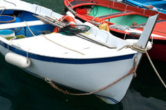 Italian traditional fishing dinghy. Stock Photos