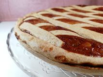 Italian traditional food called pastiera on Blur Background royalty free stock photography