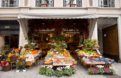 Italian traditional green grocer stock image
