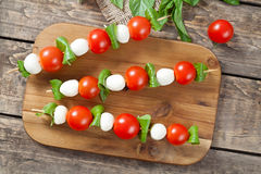 Italian traditional homemade skewers with Stock Photography