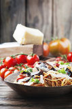 Italian traditional pasta alla norma Royalty Free Stock Image
