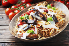 Free Italian Traditional Pasta With Eggplant Alla Norma Royalty Free Stock Images - 76603669