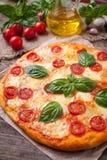 Italian traditional pizza margherita. Homemade Royalty Free Stock Photography