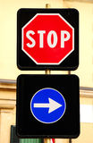 Italian traffic signs. Royalty Free Stock Photography