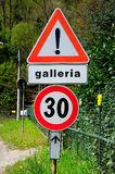 Italian traffic signs. Royalty Free Stock Image