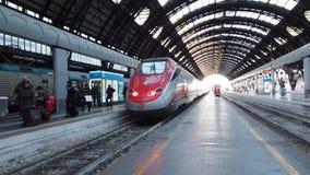 Italian train in Milan stock footage