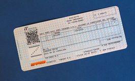 Italian train ticket Royalty Free Stock Photo
