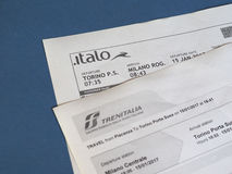 Italian train tickets Royalty Free Stock Images