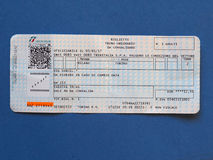 Italian train tickets Royalty Free Stock Image