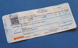 Italian train tickets Royalty Free Stock Photo