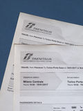 Italian train tickets Stock Photos