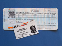 Italian train tickets Stock Photography