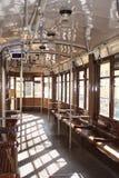 Italian tram inside Stock Image
