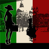 Italian Travel Flyer Royalty Free Stock Image