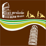 Italian Travel Flyer Stock Image