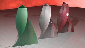 Italian triangular vases Royalty Free Stock Photos