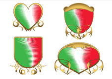 Italian tricolor ancient emblems Stock Photos