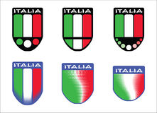 Italian tricolor emblems Stock Images