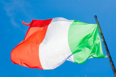 Italian tricolor flag Stock Photography