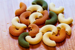 Italian tricolor pasta food Royalty Free Stock Image