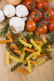 Italian tricolore pasta Royalty Free Stock Photos