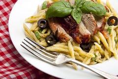 Italian trofie liguri pasta dish. Royalty Free Stock Images