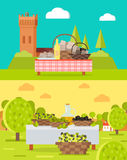 Italian Truffles and Spanish Olive Oil Concepts Royalty Free Stock Photography