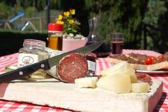 Italian tuscany food in a farm house hotel Royalty Free Stock Photo
