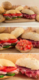 Italian/Tuscany panin - sandwich with prosciutto Stock Photography
