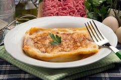 Italian typical pasta recipe: Lasagna stock image