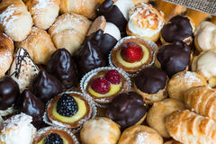 Italian typical Pasticcini Stock Photography
