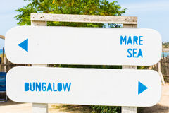 Italian Typical signs of campsites and holiday parks. Royalty Free Stock Image