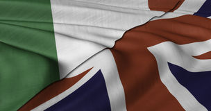 Italian and UK flag Stock Image