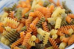 Italian uncook Fusilli Pasta Stock Photos