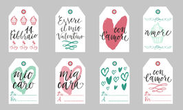 Italian Valentine gift tags. Royalty Free Stock Photo