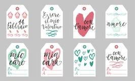 Italian Valentine gift tags. Royalty Free Stock Photo