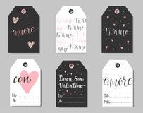 Italian Valentines gift tags. Stock Photo