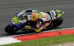 Italian Valentino Rossi Fiat Yamaha Team at 2007 P Royalty Free Stock Photos